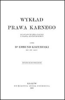 Wykład prawa karnego ze stanowiska nauki i prawa austryackiego. T. 1