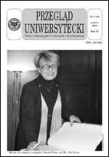 Przegląd Uniwersytecki (Wrocław) R.9 Nr 3 (84) marzec 2003