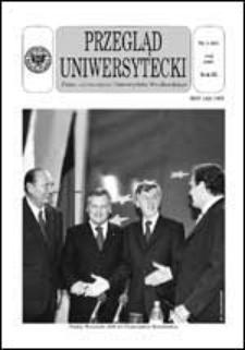 Przegląd Uniwersytecki (Wrocław) R.9 Nr 5 (86) maj 2003