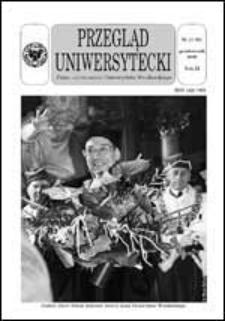 Przegląd Uniwersytecki (Wrocław) R.9 Nr 10 (91) październik 2003