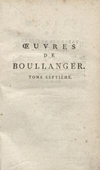 Oeuvres de Boullanger [...]. T.7