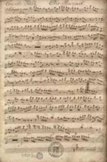 Concerto. XV. Per L'Oboe. Con L'Accompagmento. Dei due violini, due flauti, due corni in C, due viole e. basso. Composto dail Sigl: Conte de Kospoth.