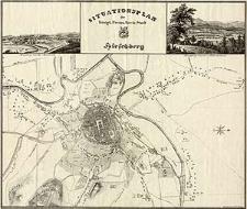 Situationsplan der Königl. Preuss. Kreis-Stadt Hirschberg