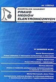 Karnoprawna ochrona dostępu do informacji publicznej w działalności prokuratury i sądów powszechnych. Cz. 1