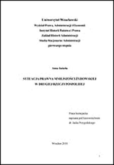 Sytuacja prawna mniejszości żydowskiej w Drugiej Rzeczypospolitej. Rozdz. II, Organizacja mniejszości żydowskiej