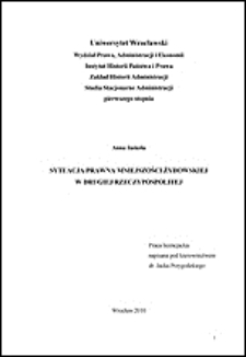 Sytuacja prawna mniejszości żydowskiej w Drugiej Rzeczypospolitej - Wykaz źródeł i literatury