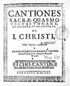 Melodiarum biblicarum, quinis vocibus tàm vivis, quàm instrumentalibus attemperatarum Liber primus [...]