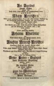 Das Begräbniß Zweyer Leichen [...] Adam Fritsches [...] Welcher den 2. Maj. Anno 1729. [...] verschied Und Seiner [...] Enckelin Johanna Charlotta [...] Wolten [...] vorstellen [...] Innen Benennte.