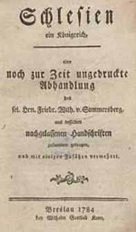 Schlesien ein Königreich: eine noch zur Zeit ungedruckte Abhandlung [...].