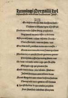 Henningi Pyrgallii Hyldensemensis de verbi divini incarnatione Jubilus.