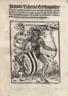 Joannis Tuberini Erythropolitani [...] Carmen ad grave[m] sanctu[m]q[ue] senatu[m] Lipsensem de orgijs corp[or]is Christi publici assertoris [...].