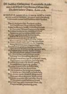 De laudibus Celeberrimae Cracoviensis Academiae Leonardi Coxi Britan[n]i, Octavo Idus Dece[m]bris habita Oratio. Anno 1518.