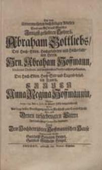 Bey dem Unvermutheten [...] Ableben Eines [...] Sohnes Abraham Gottliebs [...] Hrn. Abraham Hoffmann [...] Und [...] Anna Regina Hoffmannin [...] Wollte [...] Ihre [...] Compassion bezeugen [...] Gotthelff Solomon Heupel, Gottlieb Willhelm Heupel.