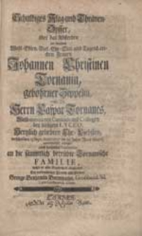 Schuldiges Klag- und Thränen-Opffer über das Absterben [...] Johannen Christinen Tornauin, gebohrner Zippelin [...] suchte [...] abzustatten [...] George Benjamin Bornmann [...].