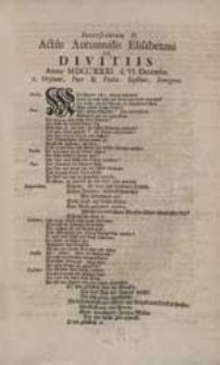 Interscenium II. Actus Autumnalis Elisabetani De Divitiis [...].