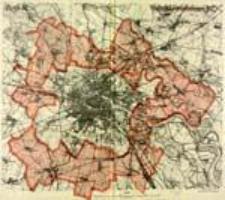 Plan von Breslau. Geplante Eingemeindungen 1912