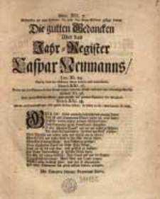 Die gutten Gedancken Über das Jahr-Register Caspar Neumanns [...].