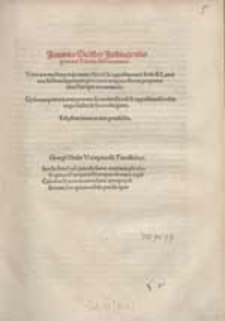 Joannis Stöfler Justingensis germani Tabulae Astronomicae : Verarum mediarumq[ue] coniunctionu[m] & oppositionum Solis & Lunae exactissima supputatio [...].