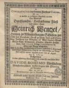 Contrafactur des fromen Fürstens Eliakims [...].