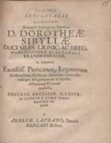Corona Indigetalis Dōdekarodos [...] Dorotheae Sibyllae Duci Siles. Lignic. Ac Breg. [...] / suspensa a Melch. Laubano, Ducalis Bregani Rectore.