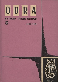 Odra (Wrocław 1961) R.1 Nr 5 lipiec 1961 [PDF]