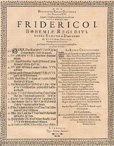 A.O. J. Hymnodia Regia Davidica five Psalmus XXXI. […] Friderico I. Bohemiae Regi […].