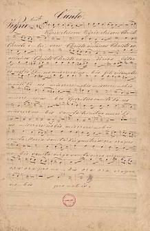 Lauretanische Lÿtanei für 4 Singstimmen 2 Violinen Viola 2 Hörner und Orgel