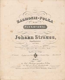 Harmonie-Polka für das Pianoforte [...] 106tes Werk