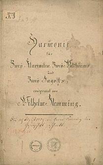 Harmonie [F-Dur] für zweÿ Klarinetten, zweÿ Waldhörner und zweÿ Fagott's