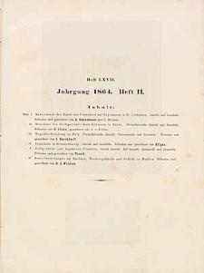 Architektonisches Skizzenbuch, 1864, Heft (II) LXVII, Blatt 1-6