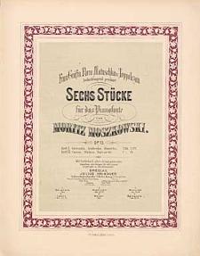 Sechs Stücke : für das Pianoforte : Op. 15 : H 1.