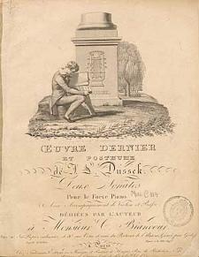 Deux sonates pour le forte piano avec accompagnement de violon et basse : oeuvre dernier et posthume