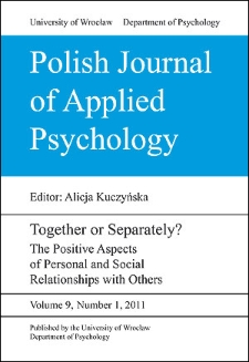 Satisfying work and its purpose in men's lives: Positive aspects of a professional relationship