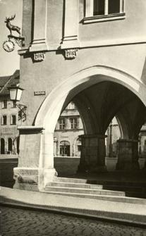 Görlitz. Untermarkt, Laubengang am Braunen Hirsch.