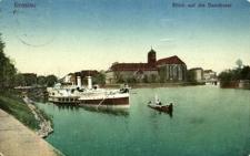 Breslau. Blick auf die Sandinsel.