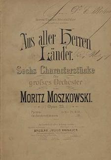 Aus aller Herren Länder : sechs Charakterstücke für grosses Orchester : Op. 23.