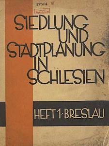 Siedlung und Stadtplanung in Schlesien
