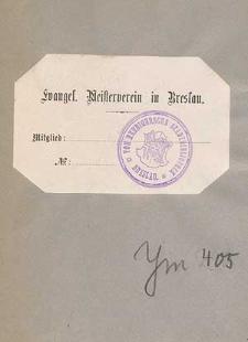 Evangelischer Meisterverein in Breslau : (gegründet 1892) : Satzungen