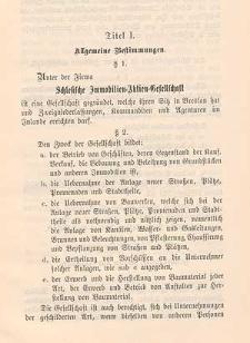 Statut der Schlesischen Immobilien-Aktien-Gesellschaft. Nach den Beschlüssen der Generalversammlung vom 28. März 1900