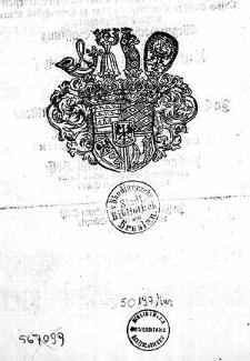 Alss [...] Herr Sylvius Friedrich, Hertzog zu Würtenberg und Teck [...] wegen [...] Stifftung der Universtät Tübingen ein [...] Jubel=Fest [...] anstellten [...] wartete [...] mit [...] musicalischen Arien [...] auff Zacharias Fiedler [...]
