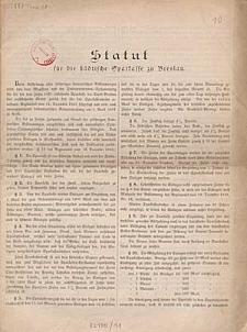 Statut für die stadtische Sparkasse zu Breslau