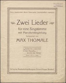 Duftet die Lindenblüt' [z cyklu:] Zwei Lieder : für eine Singstimme mit Pianofortebegleitung : [No] 1