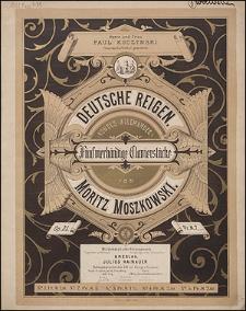 Deutsche Reigen : fünf vierhändige Clavierstücke = (Rondes allemandes) : op. 25