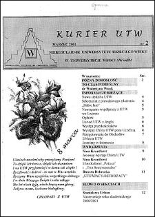 Kurier UTW: nieregularnik Uniwersytetu Trzeciego Wieku Nr 2 2001