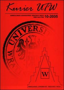 Kurier UTW: nieregularnik Uniwersytetu Trzeciego Wieku Nr 10 2005
