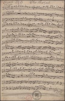 Concerto XIII. Per L'oboe principale. Violino primo. Violino secondo. Due oboi. Due corni. in F. viola. e basso.