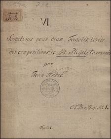 VI Sonatines pour deux Fagotts, tirées des compositions de Mr Pleyel, et arrangées par Jean André