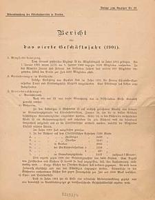 Bericht über das vierte Geschäftsjahr (1901)