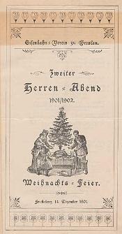 Zweiter Herren-Abend 1901/1902 : Weihnachts-Feier