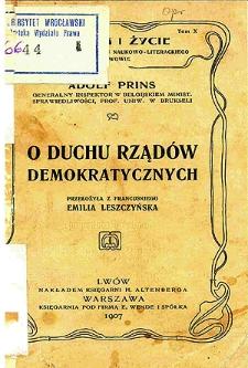O duchu rządów demokratycznych
